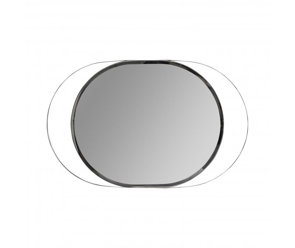 Oglinda Oval - Burkina, Gri & Argintiu