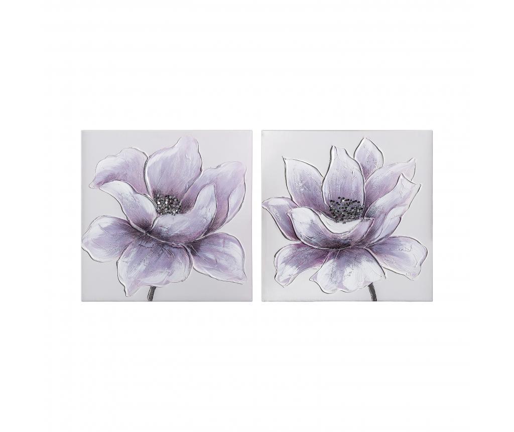 Set 2 tablouri Violetas 50x50 cm