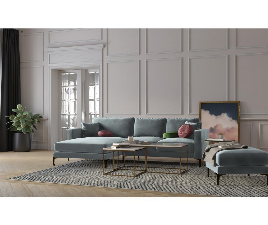 Ljeva kutna sofa četvorosjed Harmony Light Grey