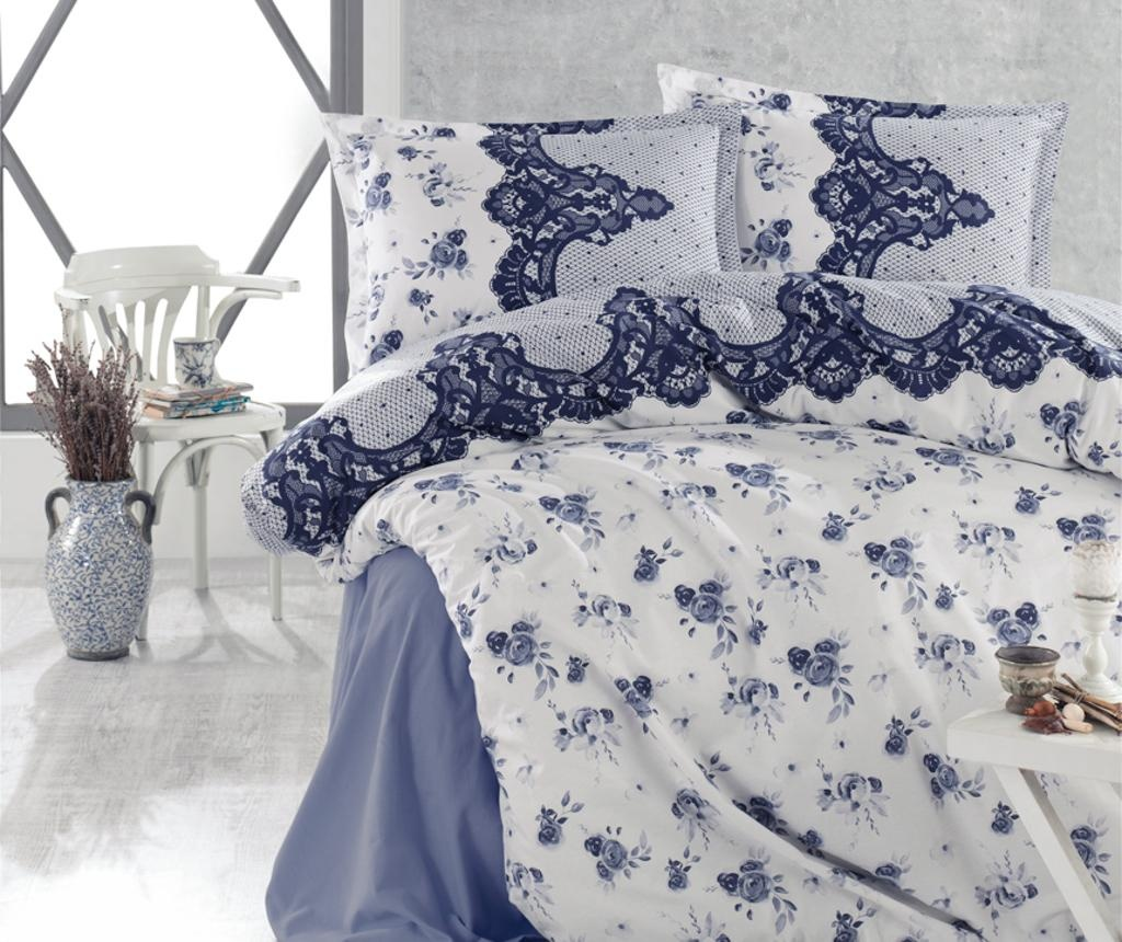 Set posteljina King Ranforce Andora Dark Blue