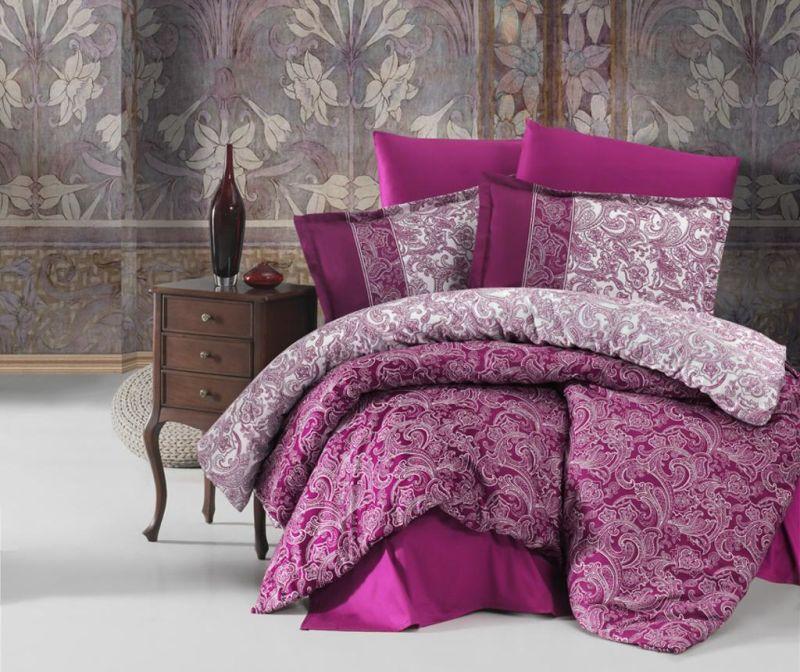 Set posteljina King Satin Supreme Polo Purple