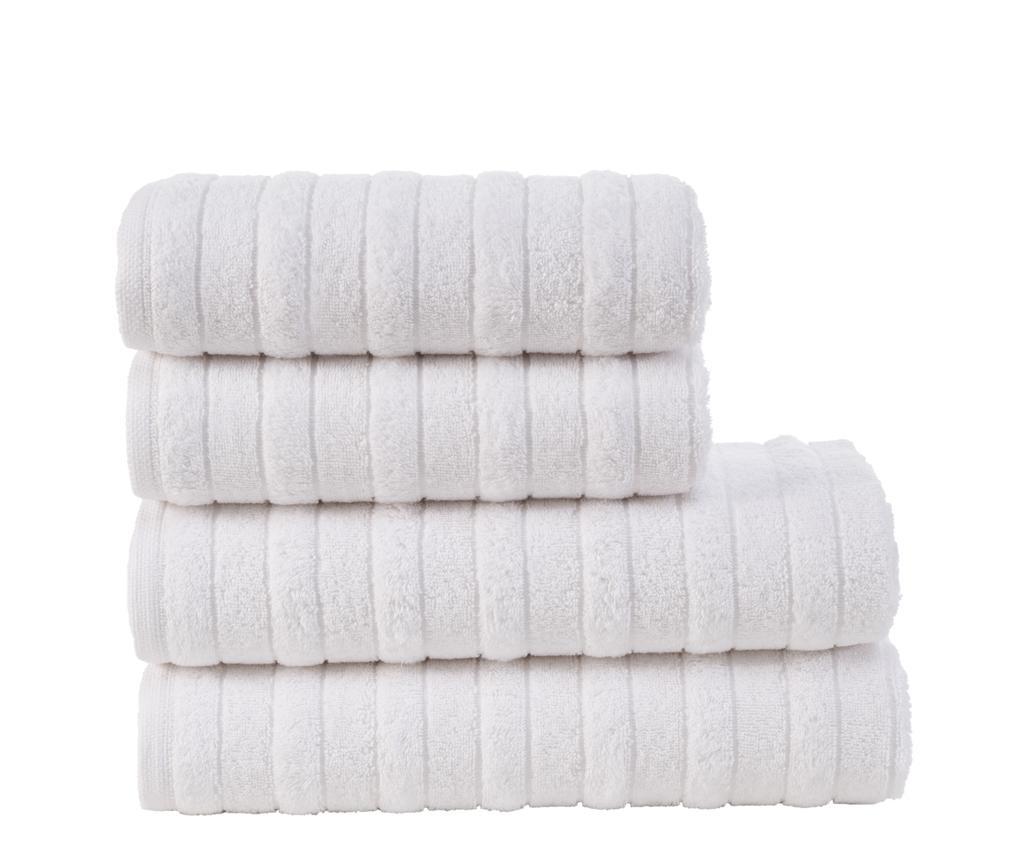Set 4 ručnika Hill White