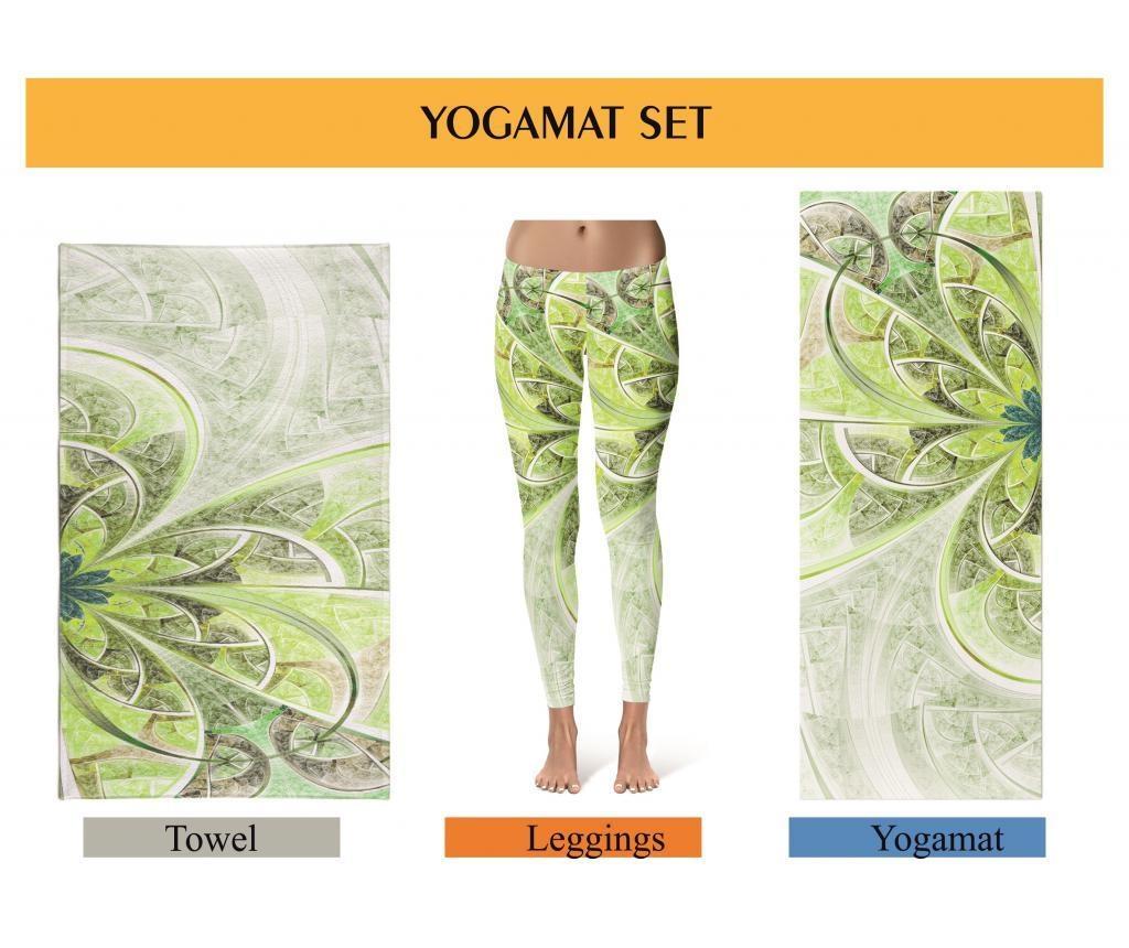 Oyo Jógaszőnyeg, jóga törölköző és női nadrág XL