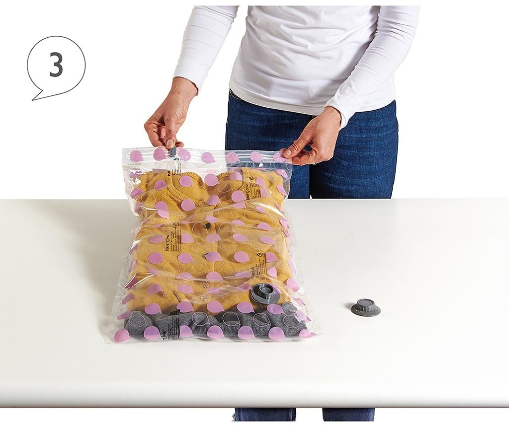 Set 3 vakuumsko tesnilnih vreč Riducispazio Pink 35x55 cm