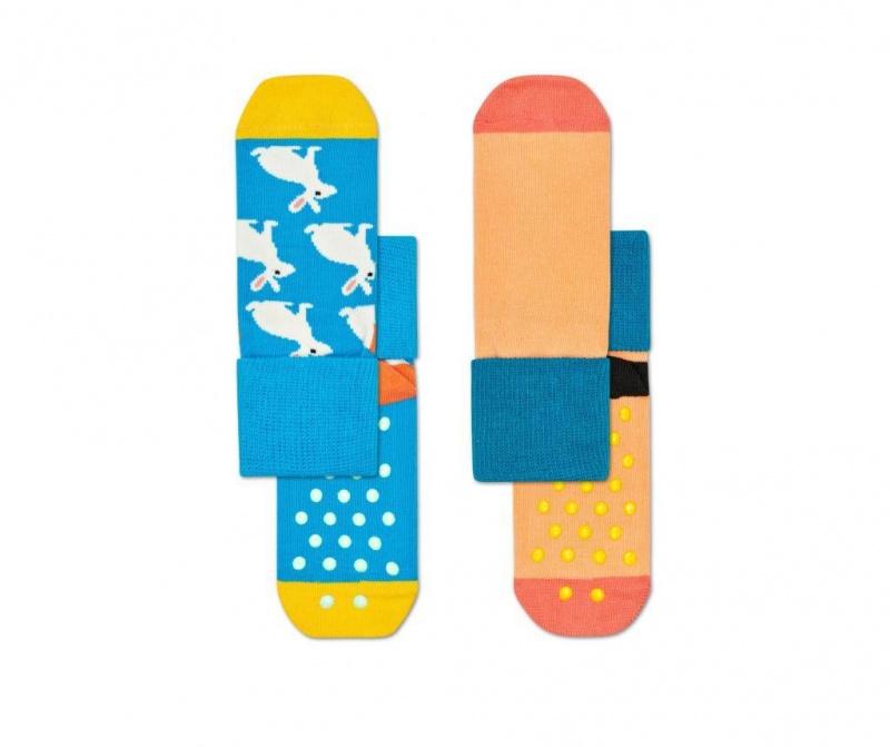 Set 2 para dječjih čarapa Bunny Anti-Slip s 2-3 god.