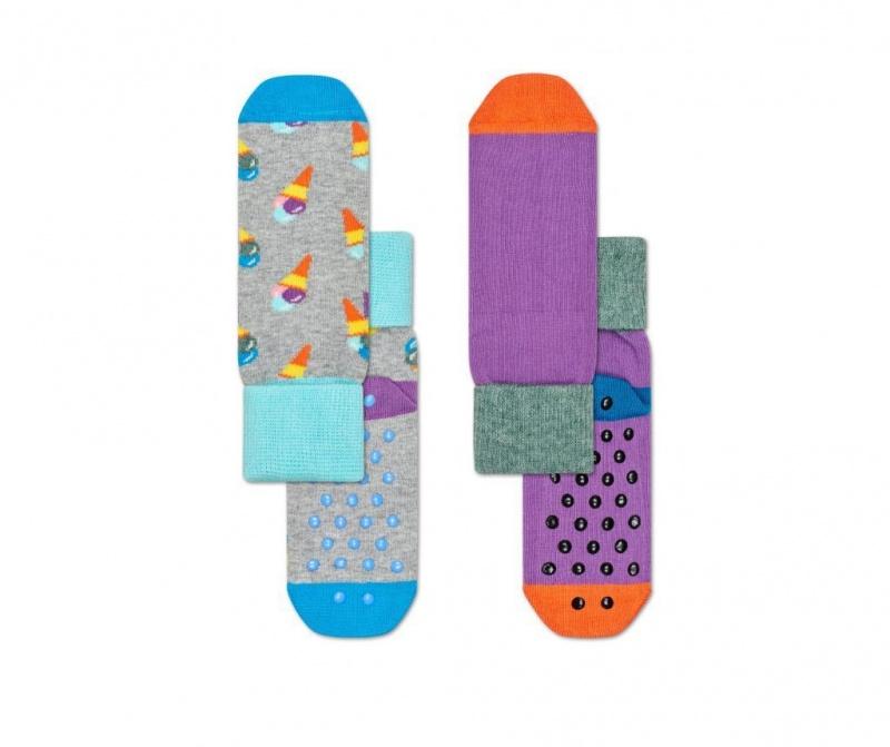 Set 2 para dječjih čarapa Ice Cream Anti-Slip s 2-3 god.