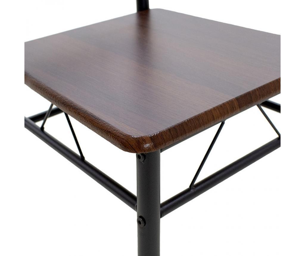 Roza Walnut Asztal és 4 db szék