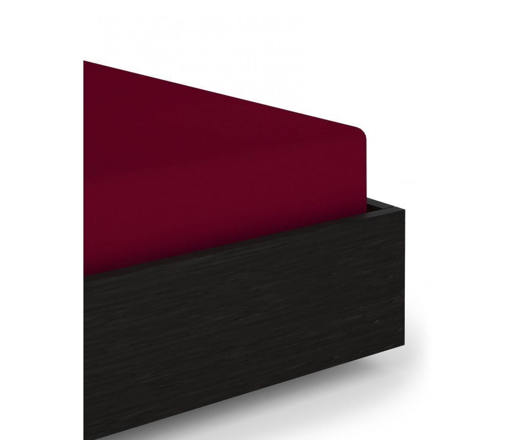 Plahta s elastičnom gumicom Perkal Red 80x200+35 cm