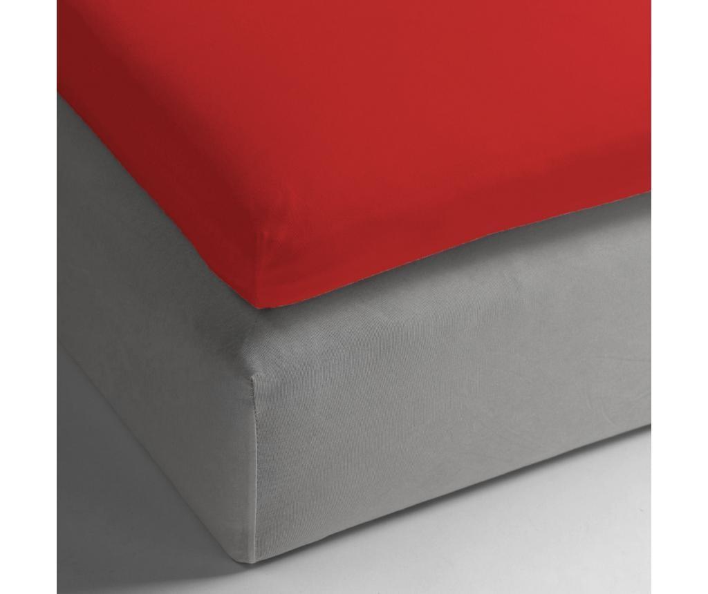 Plahta sa elastičnom gumicom za nadmadrac Perkal Red 160x200+12 cm