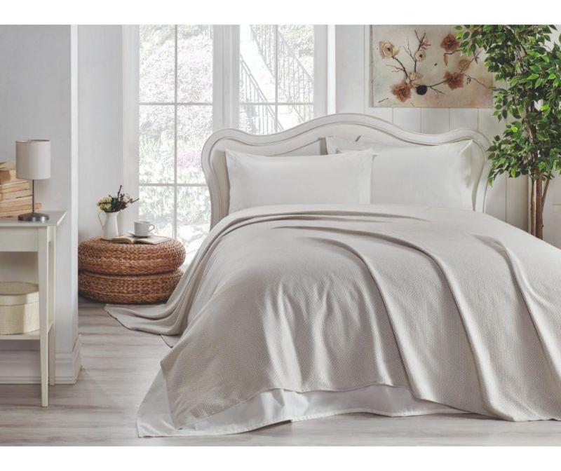 Set s posteljnim pregrinjalom King Grey
