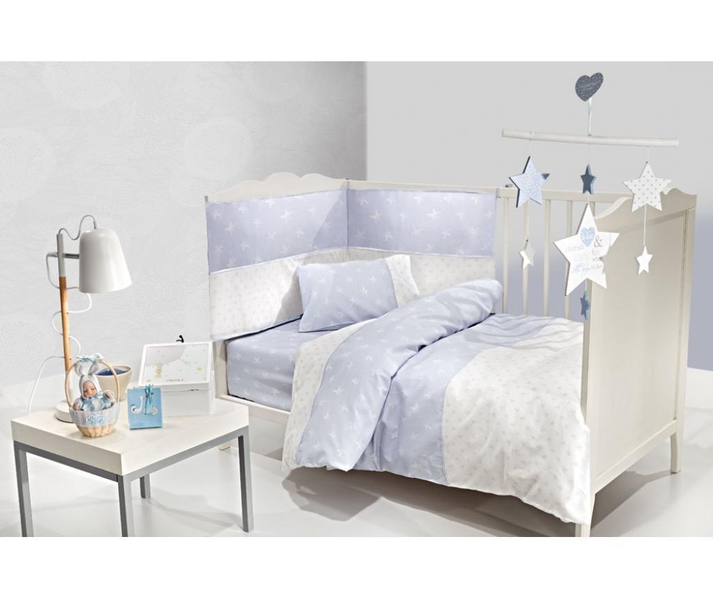 Set posteljina za krevetić Heaven Blue