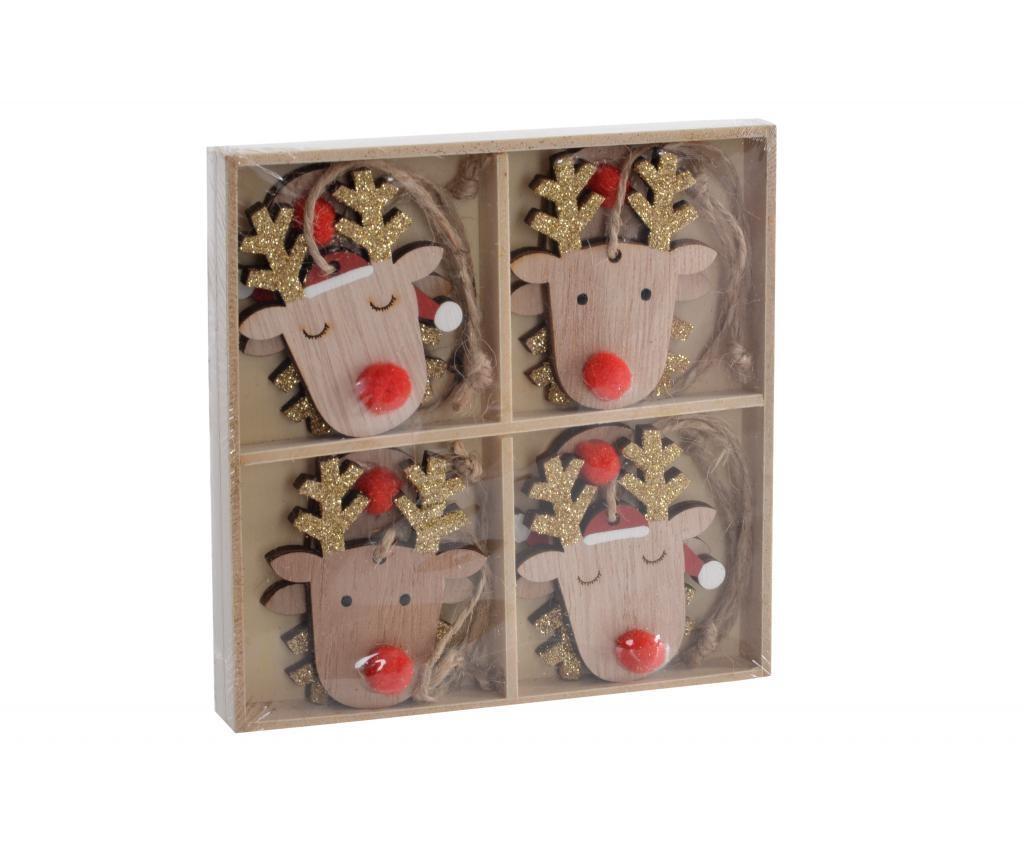 Set 8 visečih dekoracij Reindeer