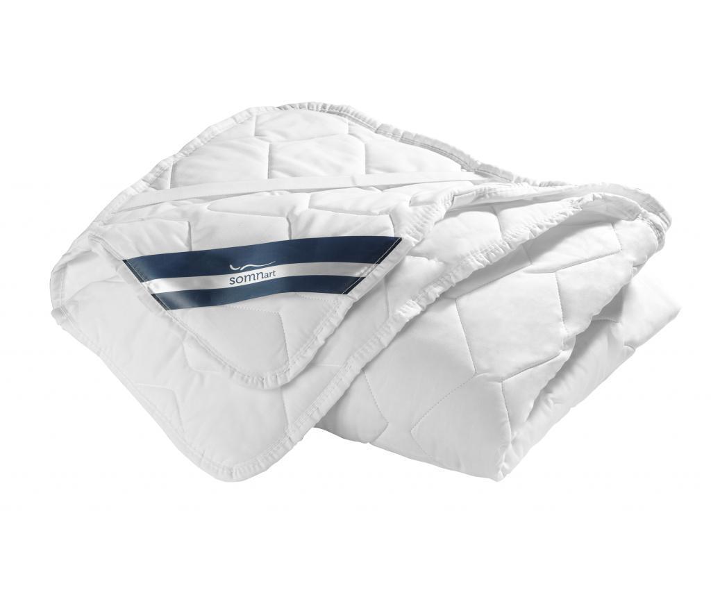Protectie pentru saltea Superior Plus 150x200 cm - SomnArt, Alb