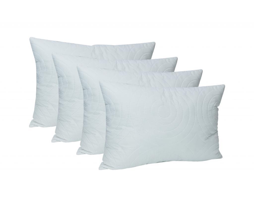 Set 4 perne Confort 50x70 cm - SomnArt, Alb