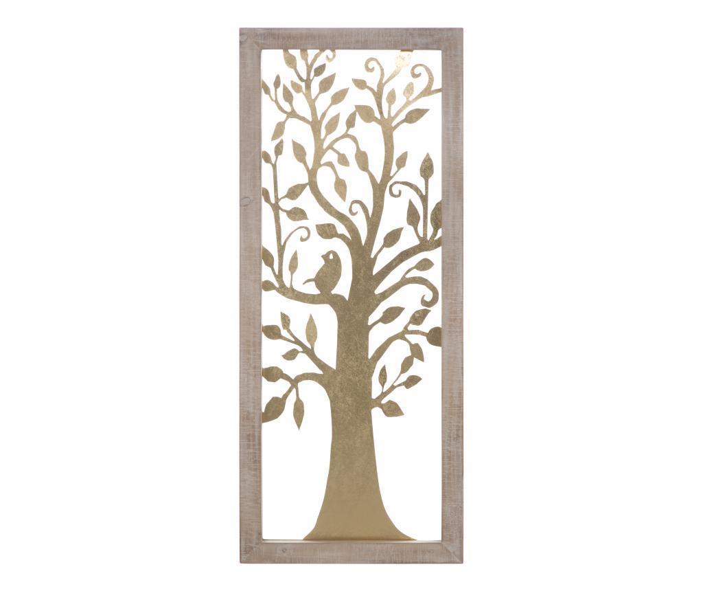 Decoratiune de perete Tree - Mauro Ferretti, Galben & Auriu,Maro