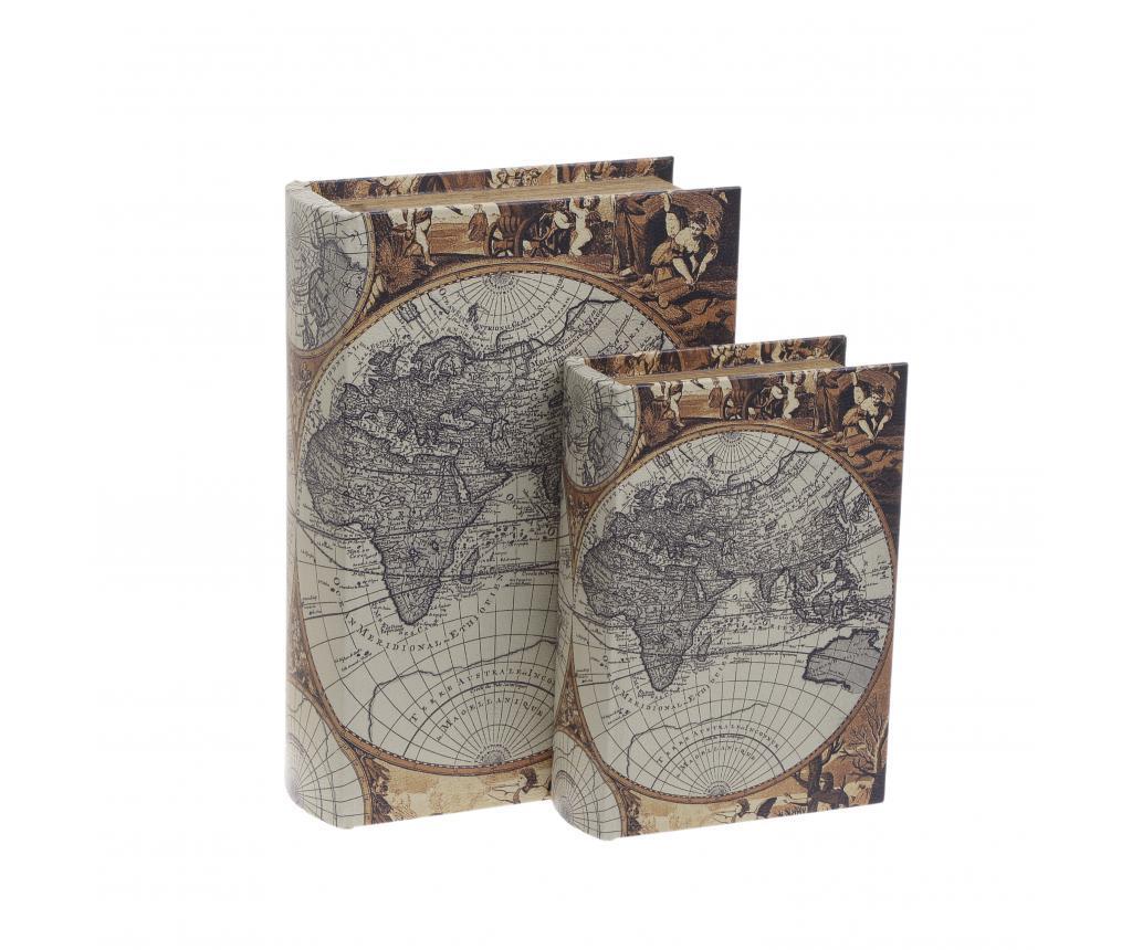 Set 2 cutii tip carte Vevay - inart, Multicolor