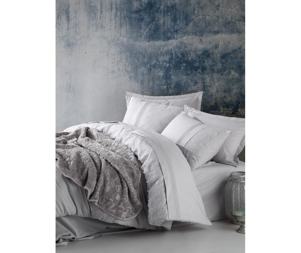 Lenjerie Pat King Ranforce Extra Emboss Gri Argintiu Multicolor Cotton Box