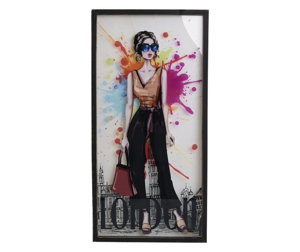 Tablou Jodi 39x79 cm - inart, Multicolor