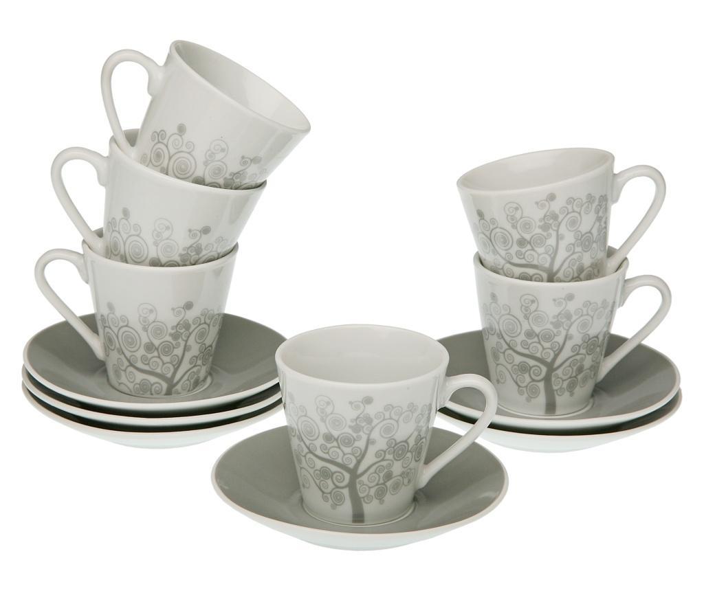 Set 12 piese pentru cafea - Versa, Gri & Argintiu