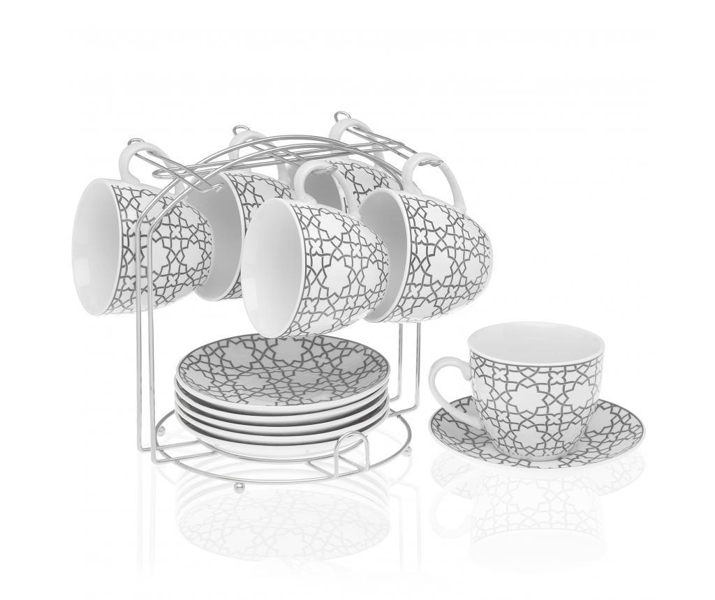 Set 13 piese pentru ceai - Versa, Gri & Argintiu