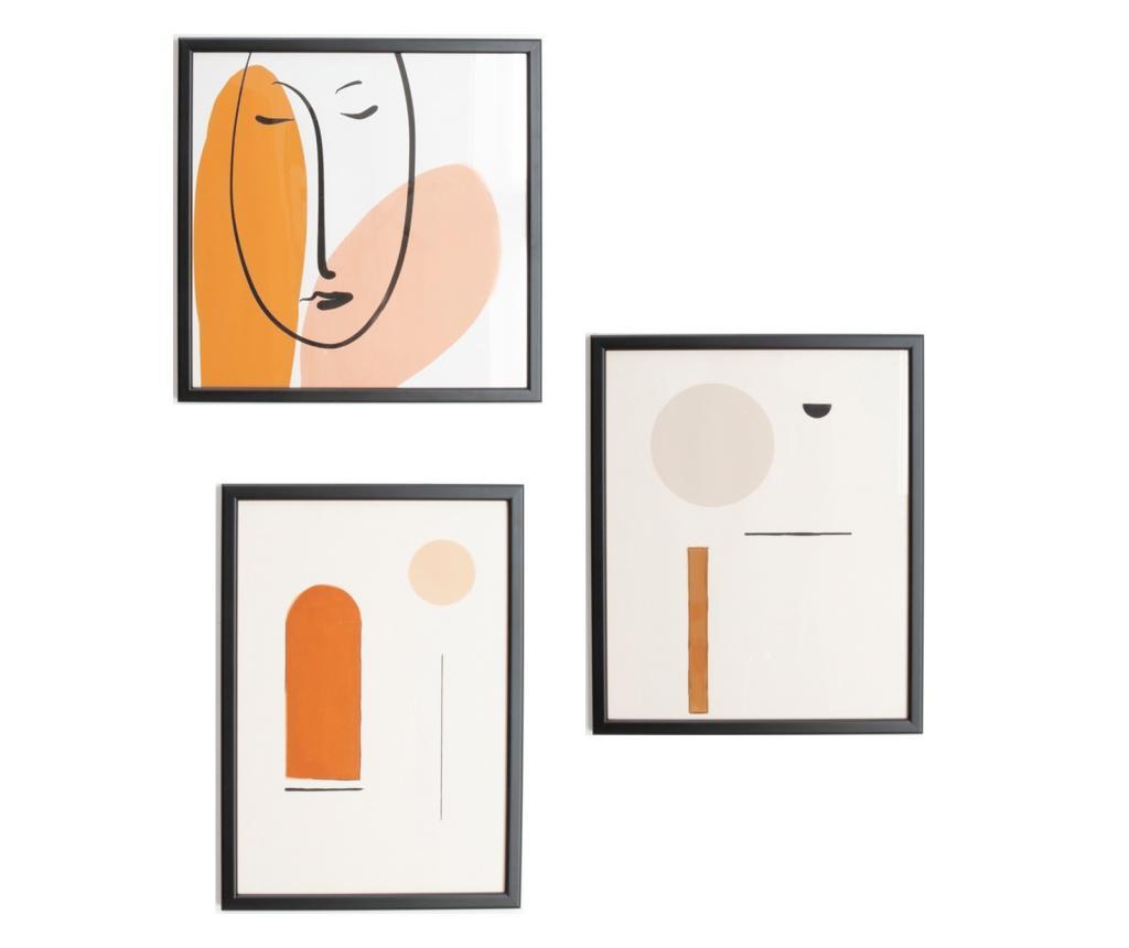Set 3 tablouri - Belssia, Multicolor
