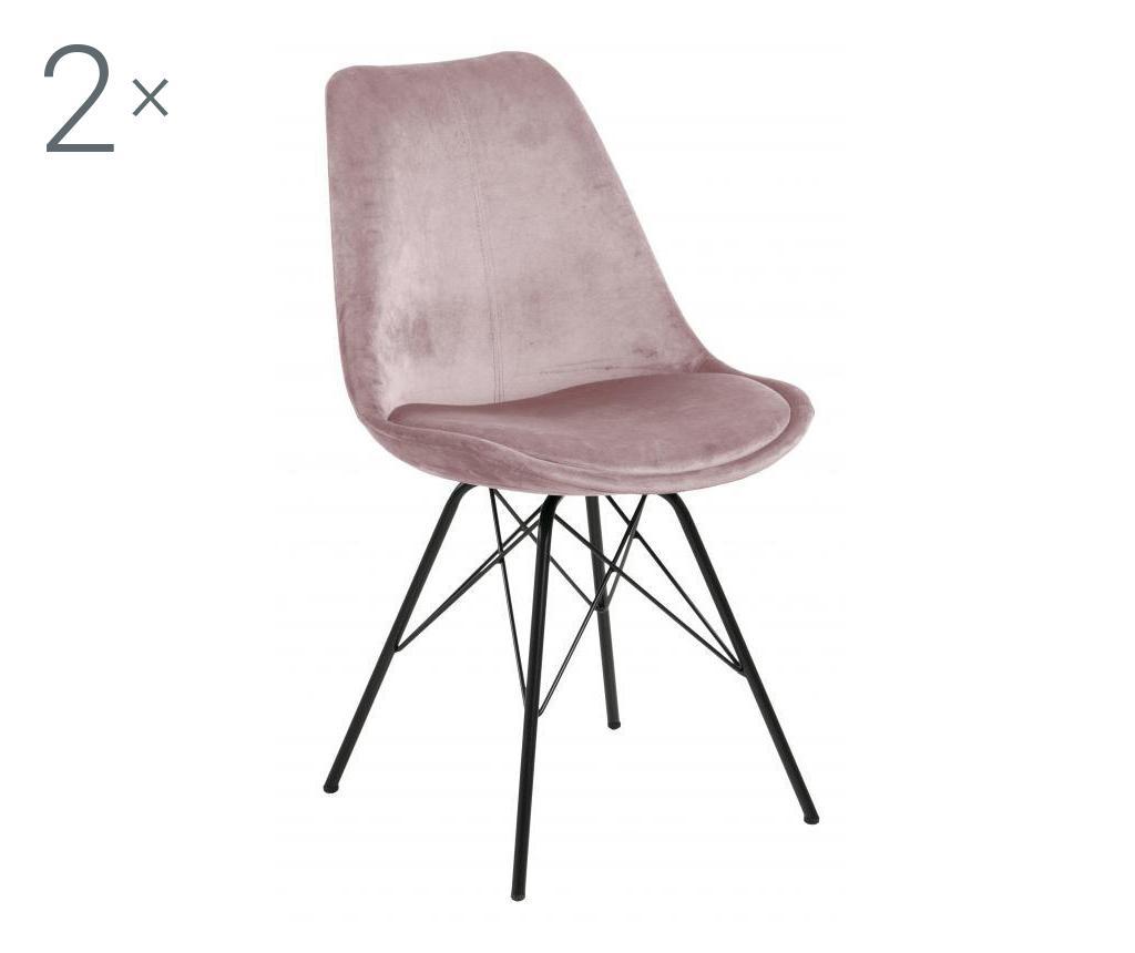 Set de 2 scaune dining Eris Pink - actona, Roz