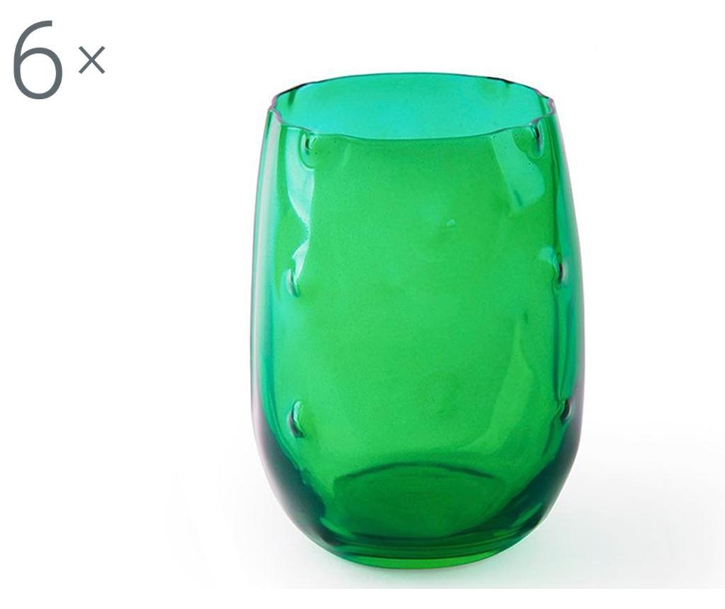 Set 6 pahare Barrio de Cactus 390 ml - Excelsa, Verde de la Excelsa