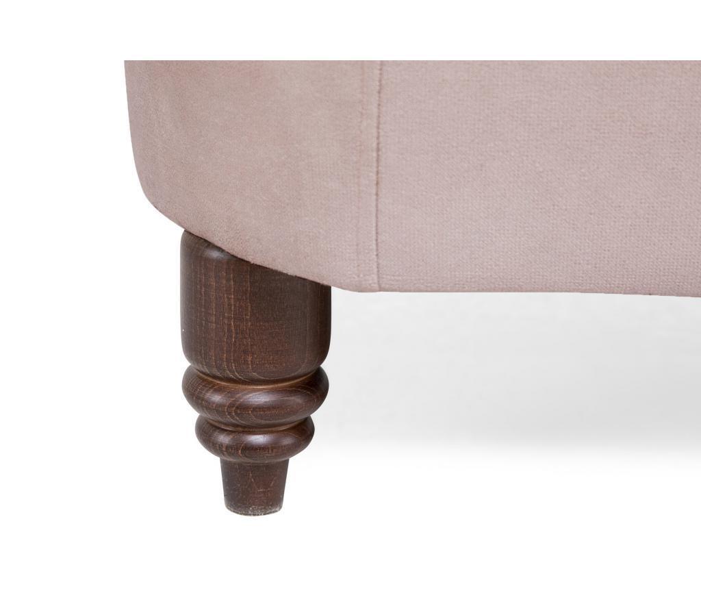 Sofa trosjed Chesterfield Light Pink Jasmine Velvet