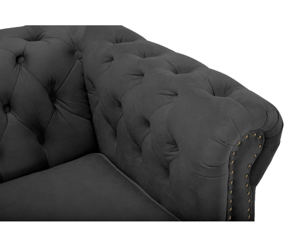 Chesterfield Grey Velvet Négyszemélyes kanapé