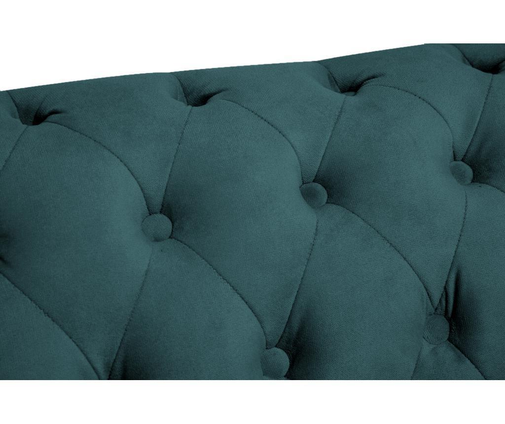 Chesterfield Bluegreen Turquoise Velvet Fotel