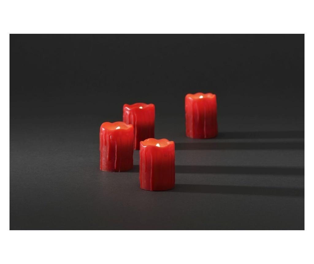 4 db Gyertya LED-del