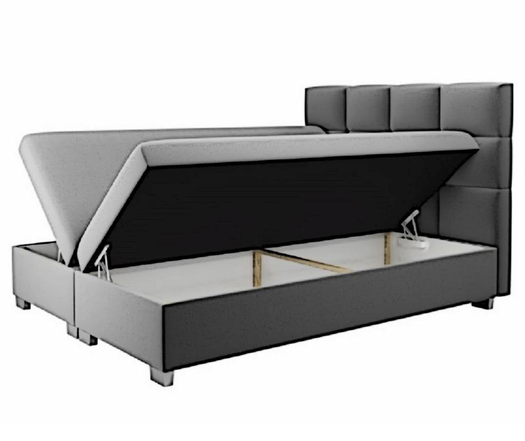 Kanada Cappuccino Boxspring ágy tárolóhellyel 180x200 cm