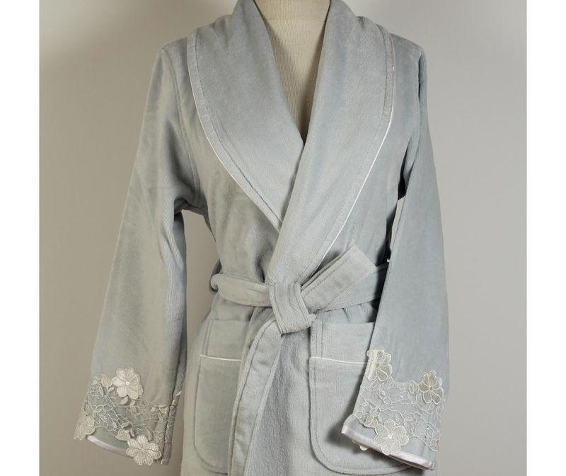 Ženski kupaonski ogrtač Verda Blue M