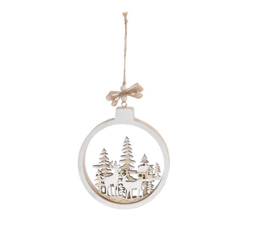 Viseča dekoracija Christmas Round White
