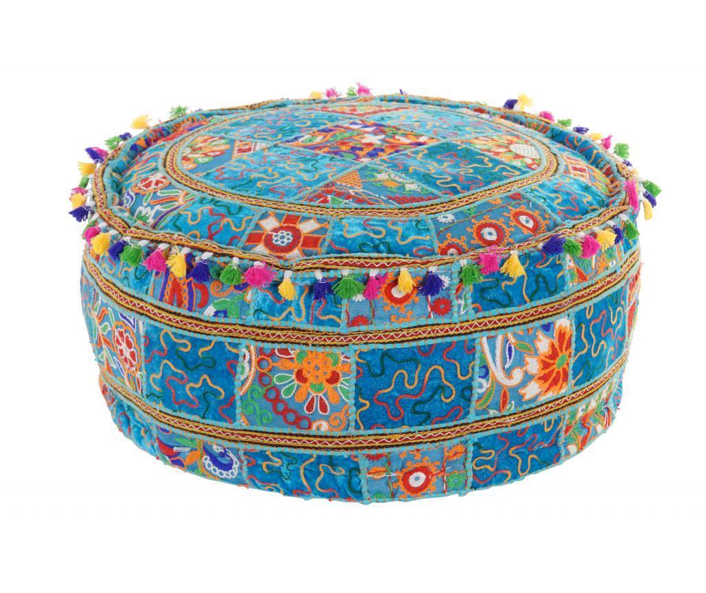 Perna de podea Patchwork 60x60 cm - Item International, Albastru