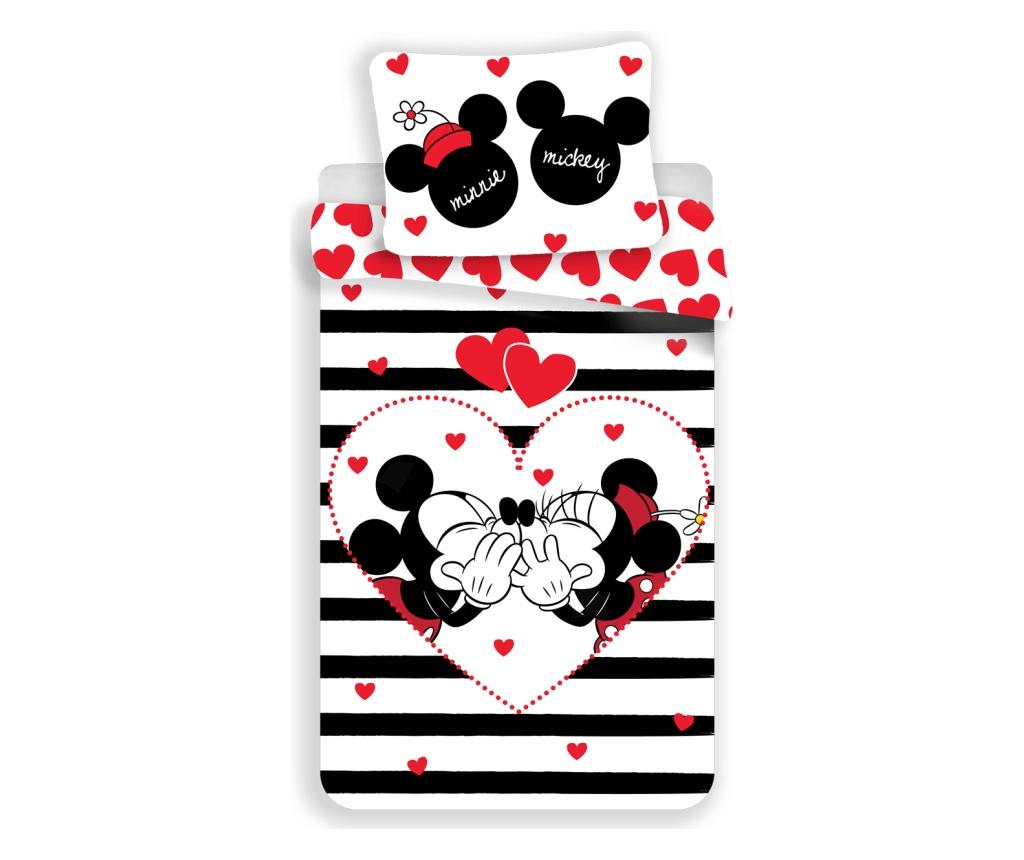 Set de pat Single Ranforce MM Stripes - Minnie Mouse by Disney, Multicolor