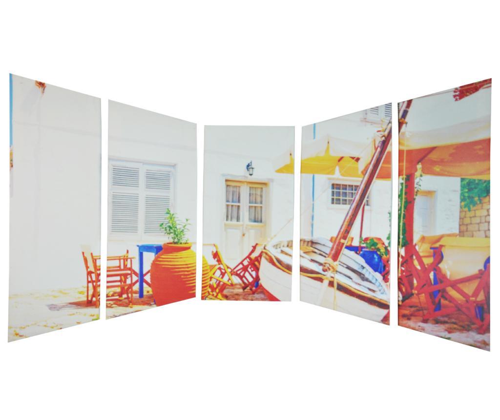 Set 5 tablouri 3D Fishing Village - Fancy Home art