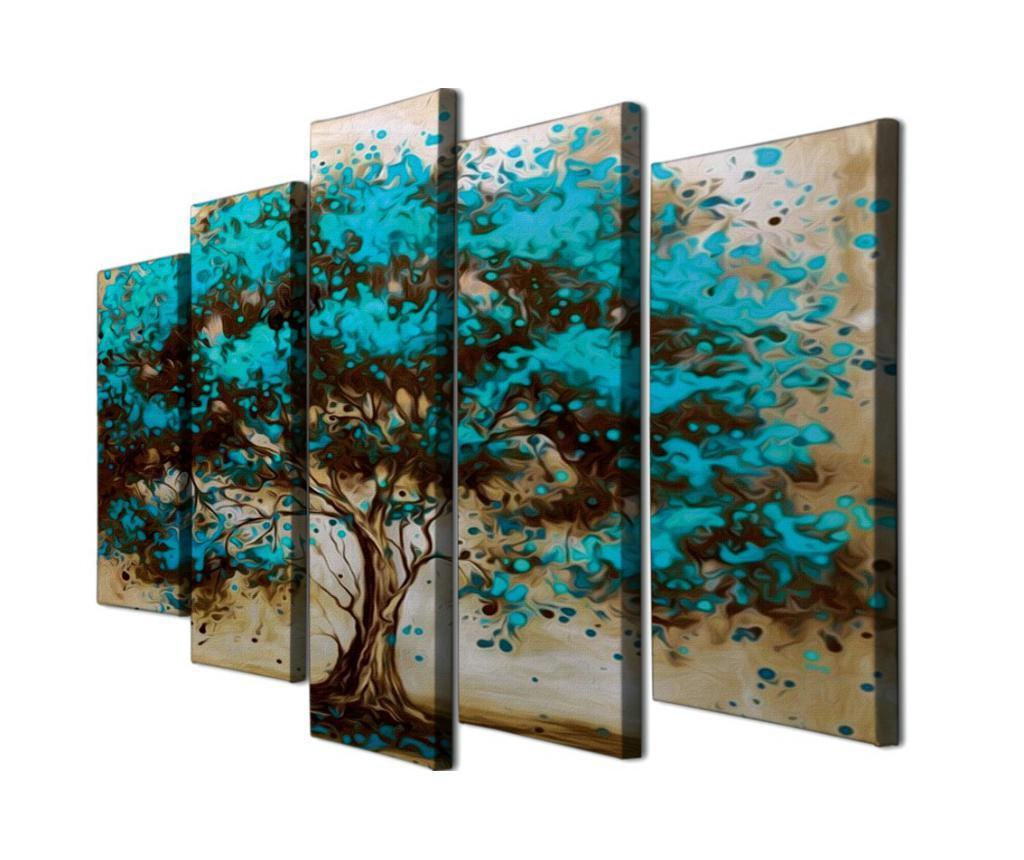 Set 5 Tablouri - Majestic, Multicolor