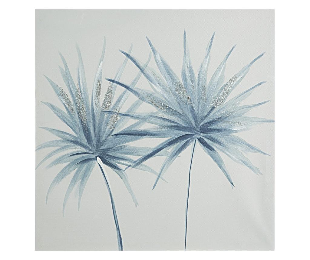 Tablou blue Flower 40x40 cm - Eurofirany, Albastru