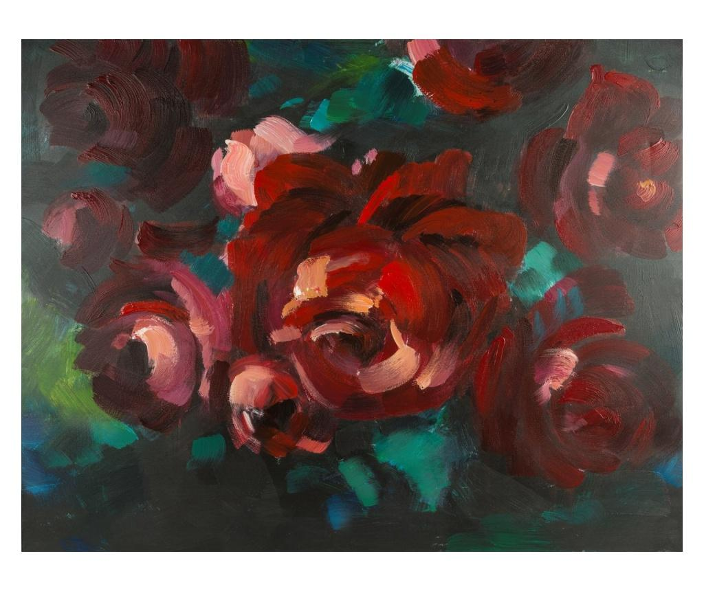 Tablou Red Bouquet 80x100 cm - Eurofirany, Rosu