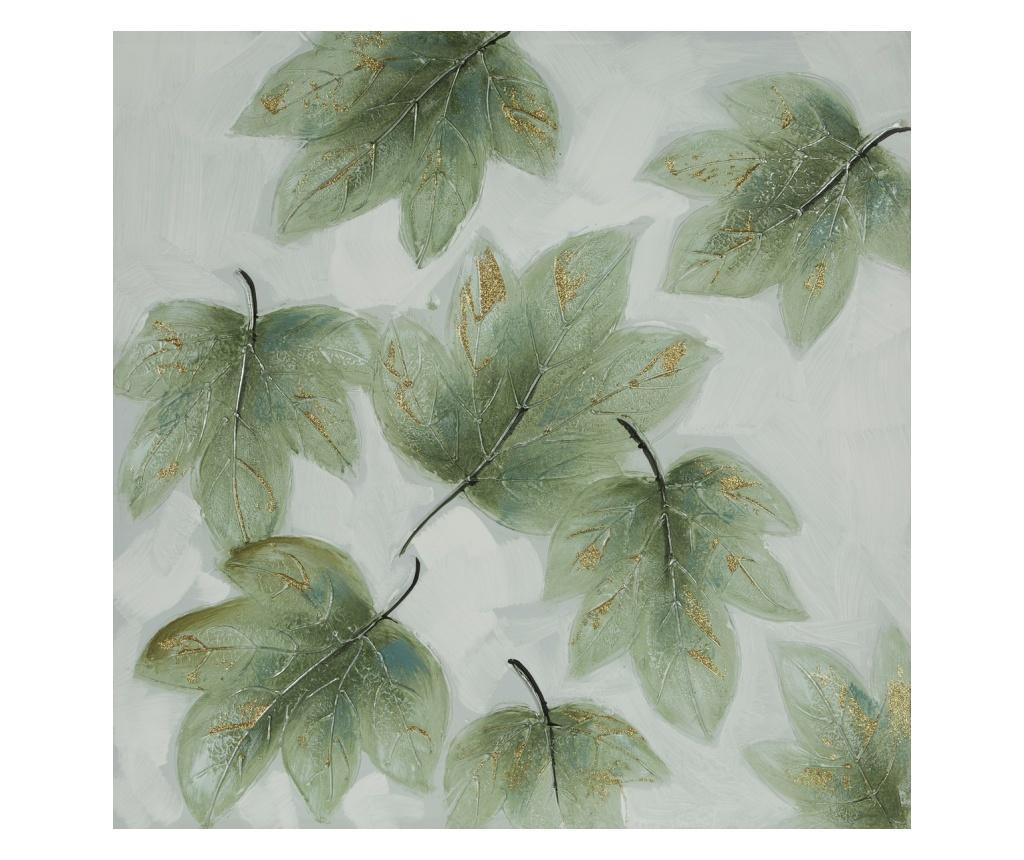 Tablou Leaves 80x80 cm - Eurofirany, Verde