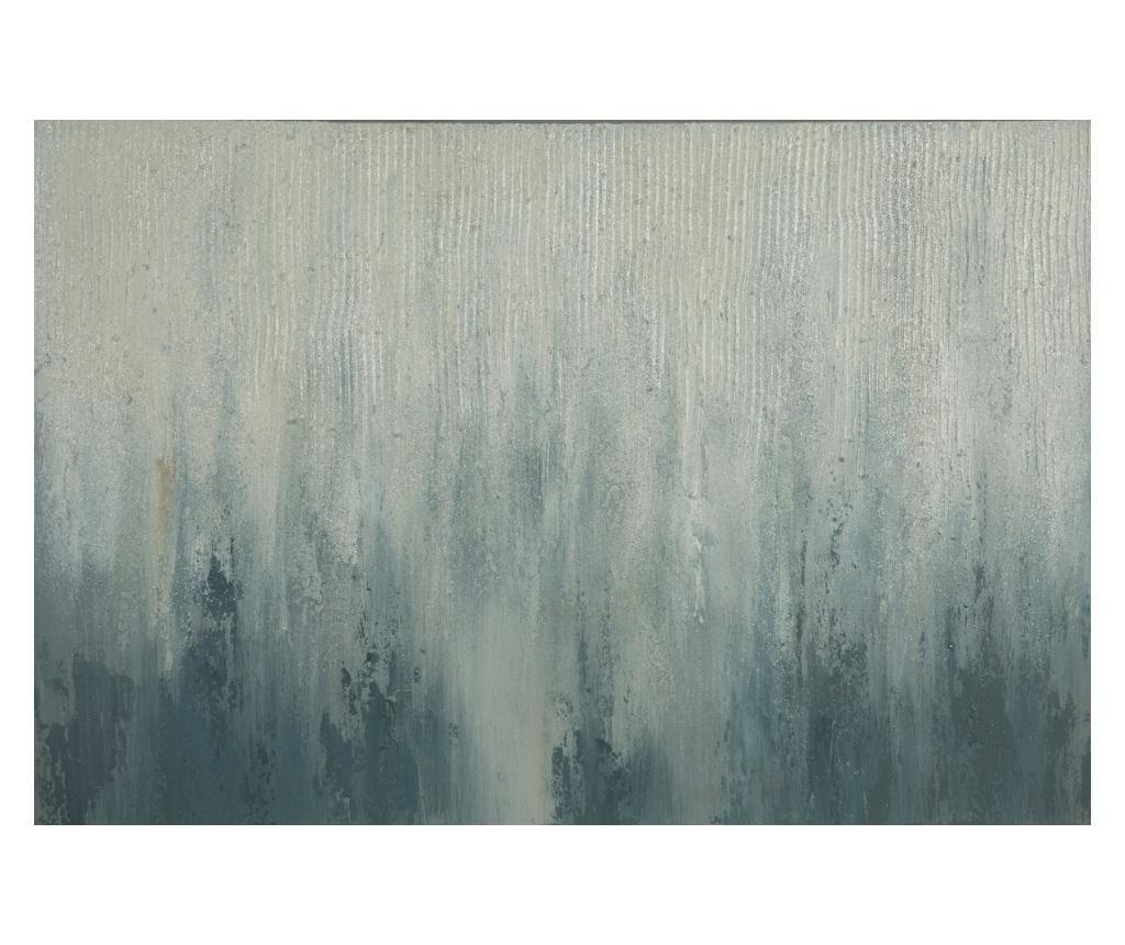 Tablou Abstract 60x90 cm - Eurofirany, Gri & Argintiu