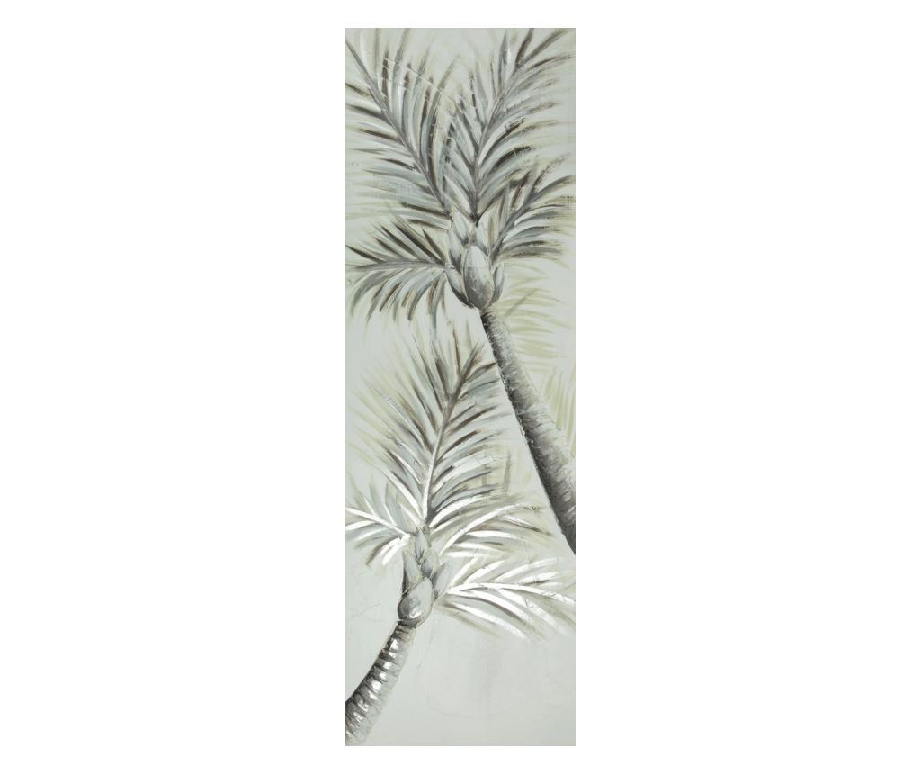 Tablou Palm Trees 50x150 cm - Eurofirany, Gri & Argintiu