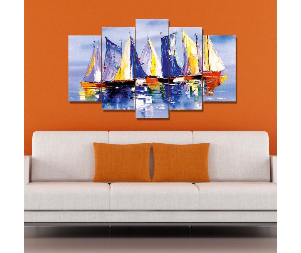 Set 5 tablouri Dodie - Carsberg, Multicolor