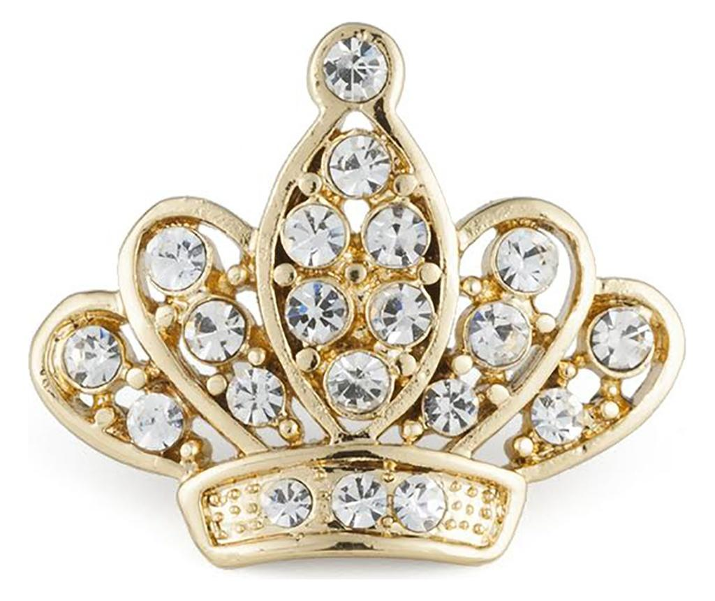 Brosa Queen Gold - VANCRYSTALS, Galben & Auriu