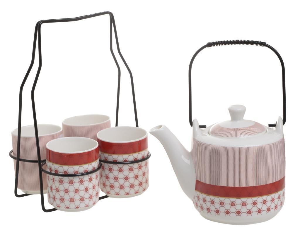 Set 6 piese pentru ceai Aroma Red - inart, Alb