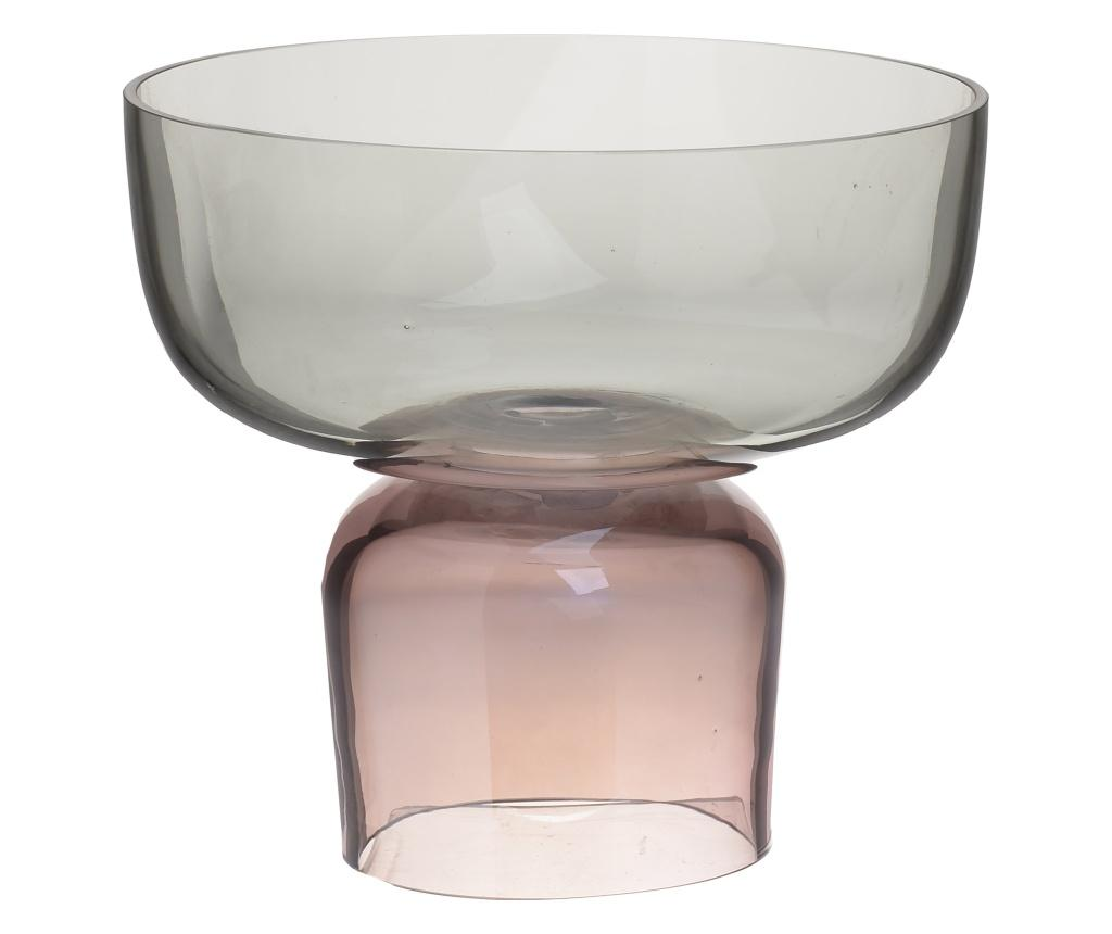 Bol decorativ Clear Grey & Pink - inart, Roz