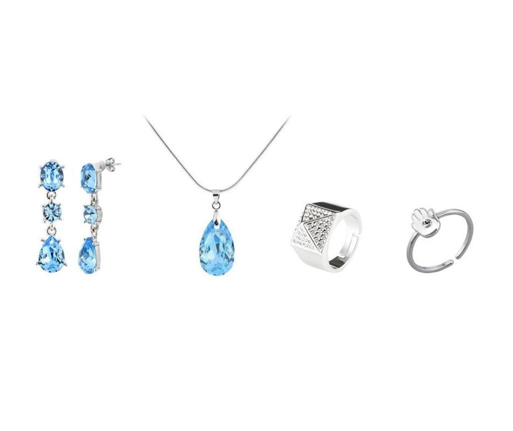 Set bijuterii 4 piese - VANCRYSTALS, Albastru