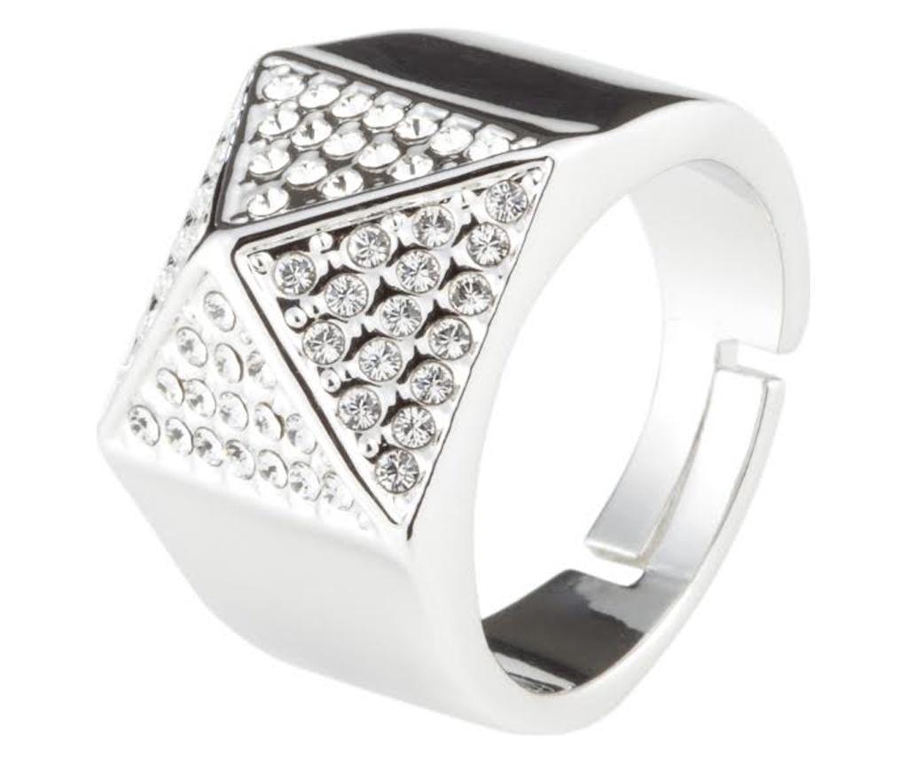 Inel Crystal Sahara Silver 20 Mm - Vipdeluxe, Gri & Argintiu