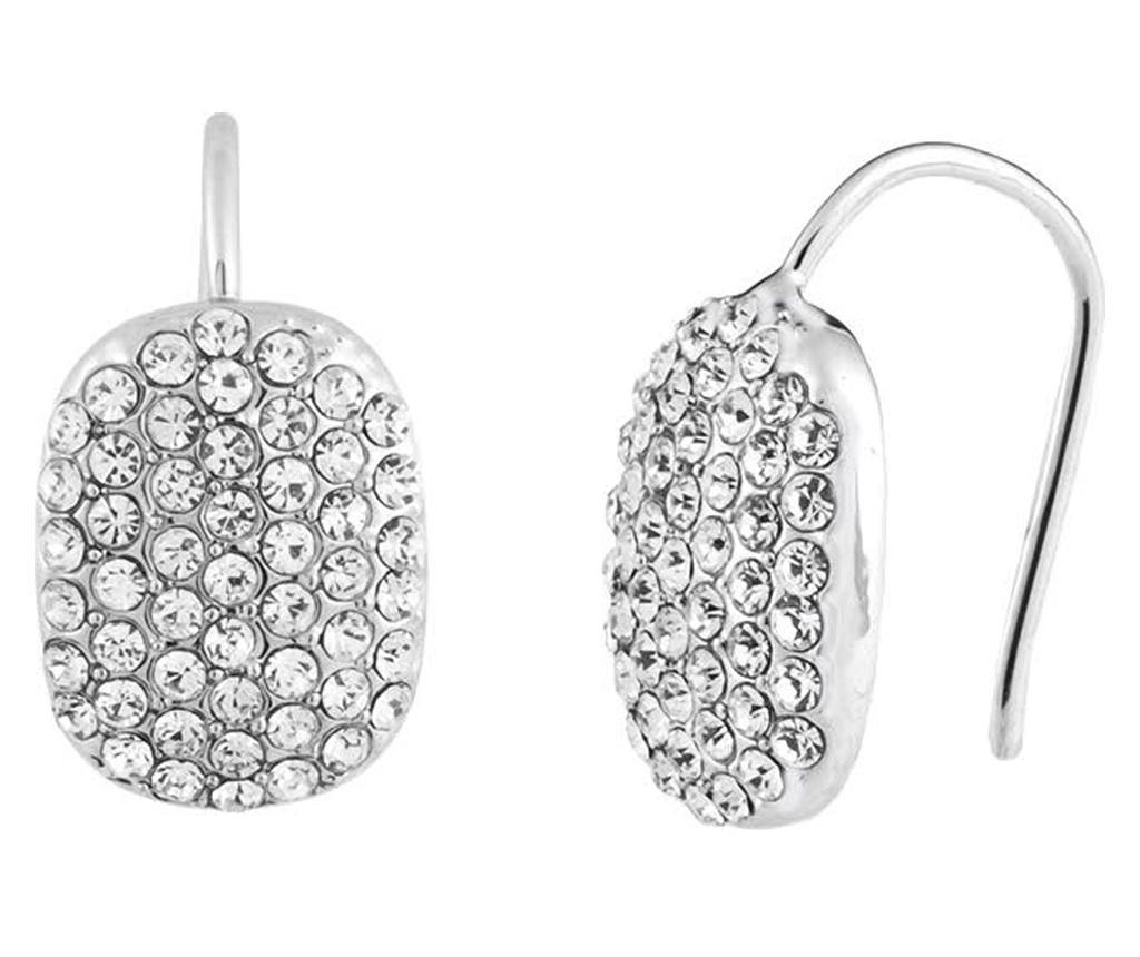 Cercei Crystal Silver - VipDeluxe, Gri & Argintiu